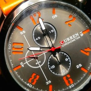 CURREN CHRONOMETER 8192 Analog Quartz Orange